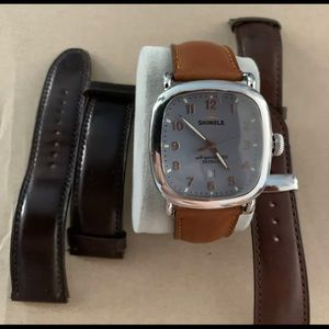 Shinola 'The Guardian' 41.5mm Watch w/ 3 straps